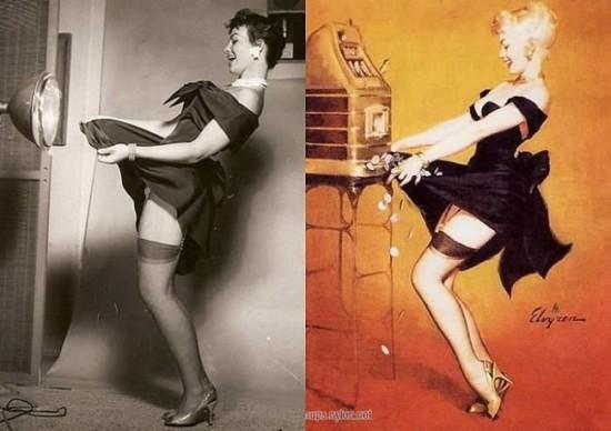 Depiliuotos kojos meno kūriniuose
