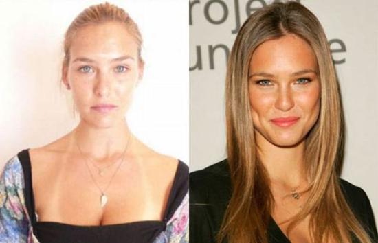 Supermodeliai be veido makijažo